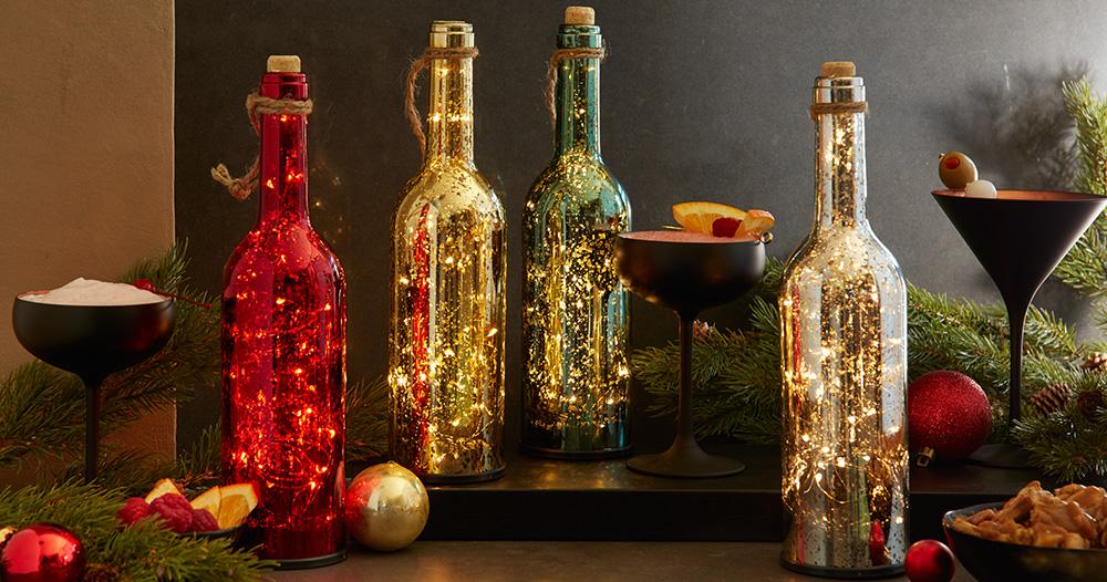 Wine Bottle Party Lights Set