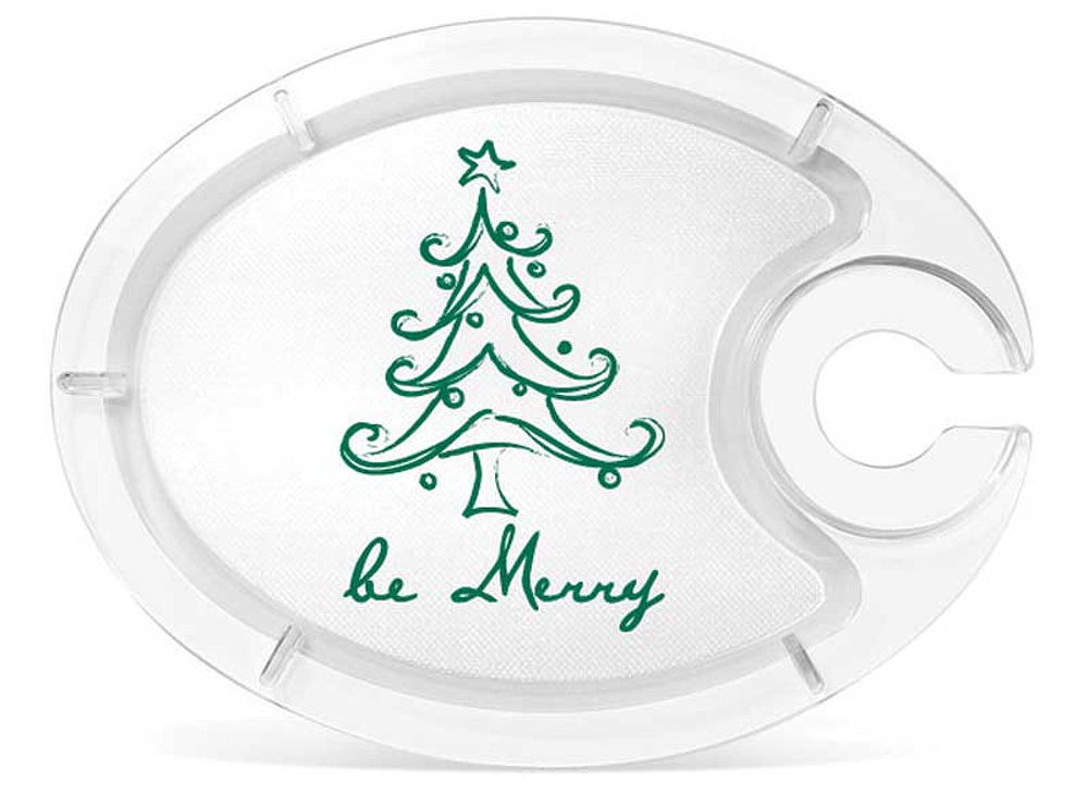 Be Merry Buffet Plate for Wine Glasses