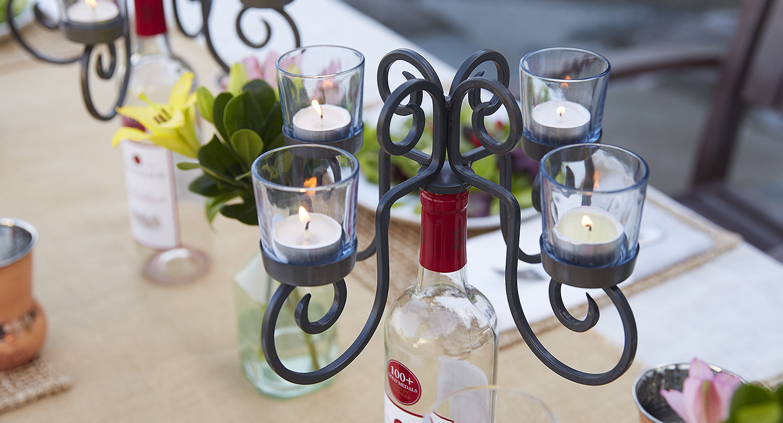 Wine Votive Candelabra