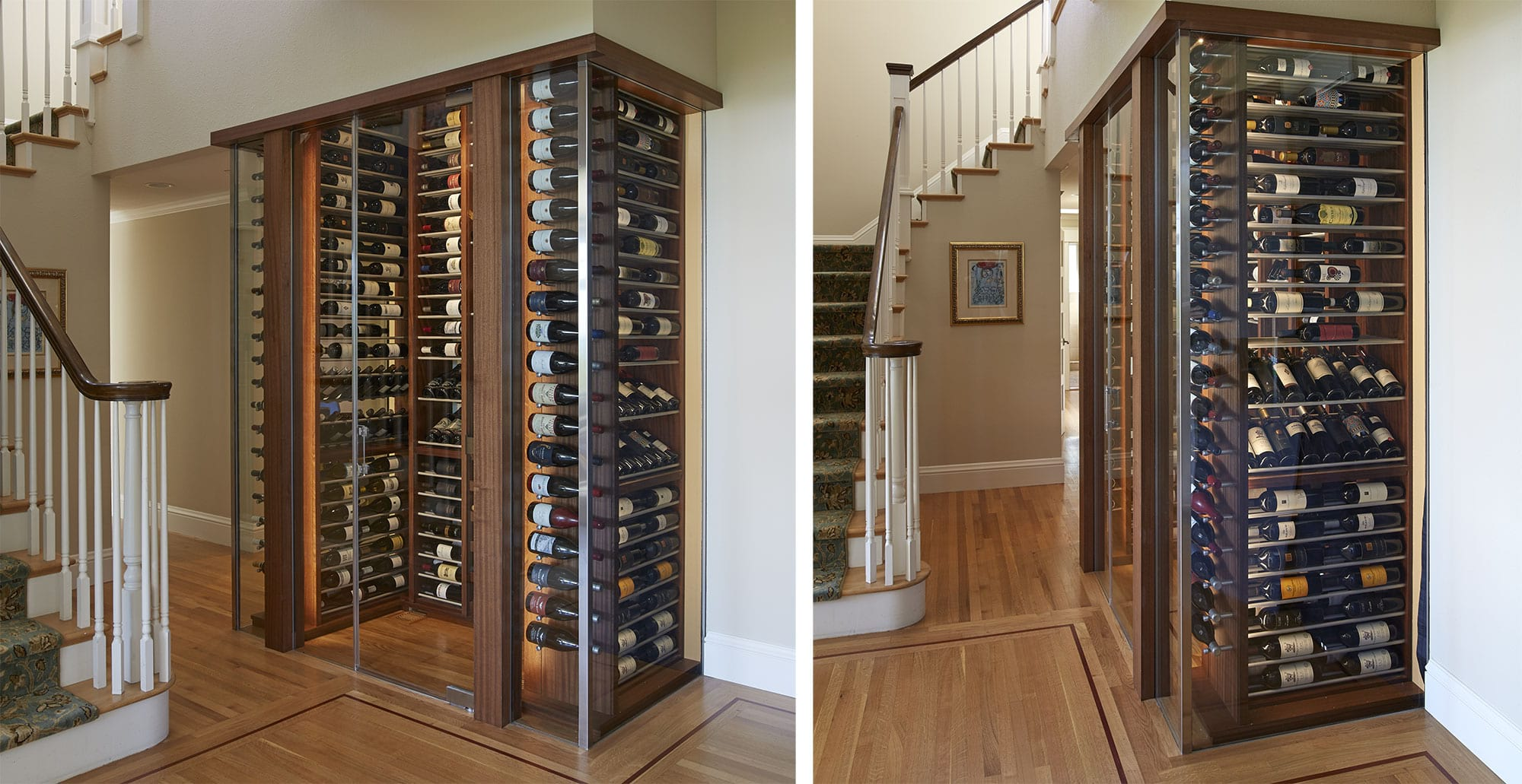 IWA Design Center - Custom Glass Enclosed Wine Cabinet