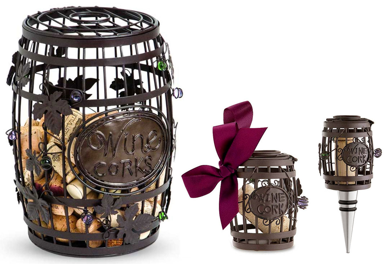 Wine Barrel Cork Cages