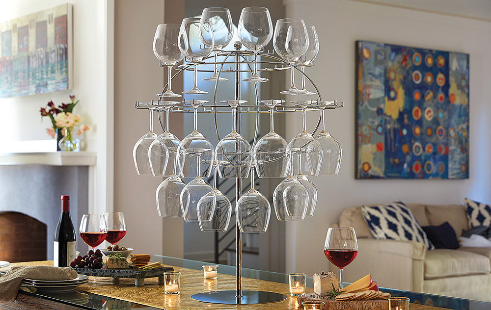 Glass Globe Display Rack