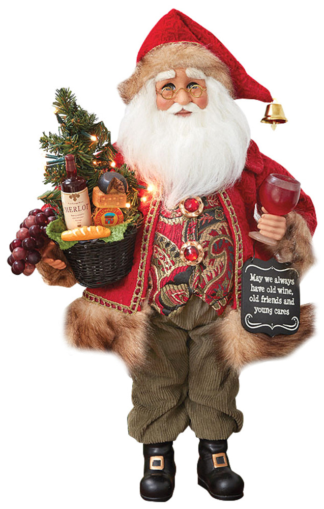 Santa Collectible with Wine