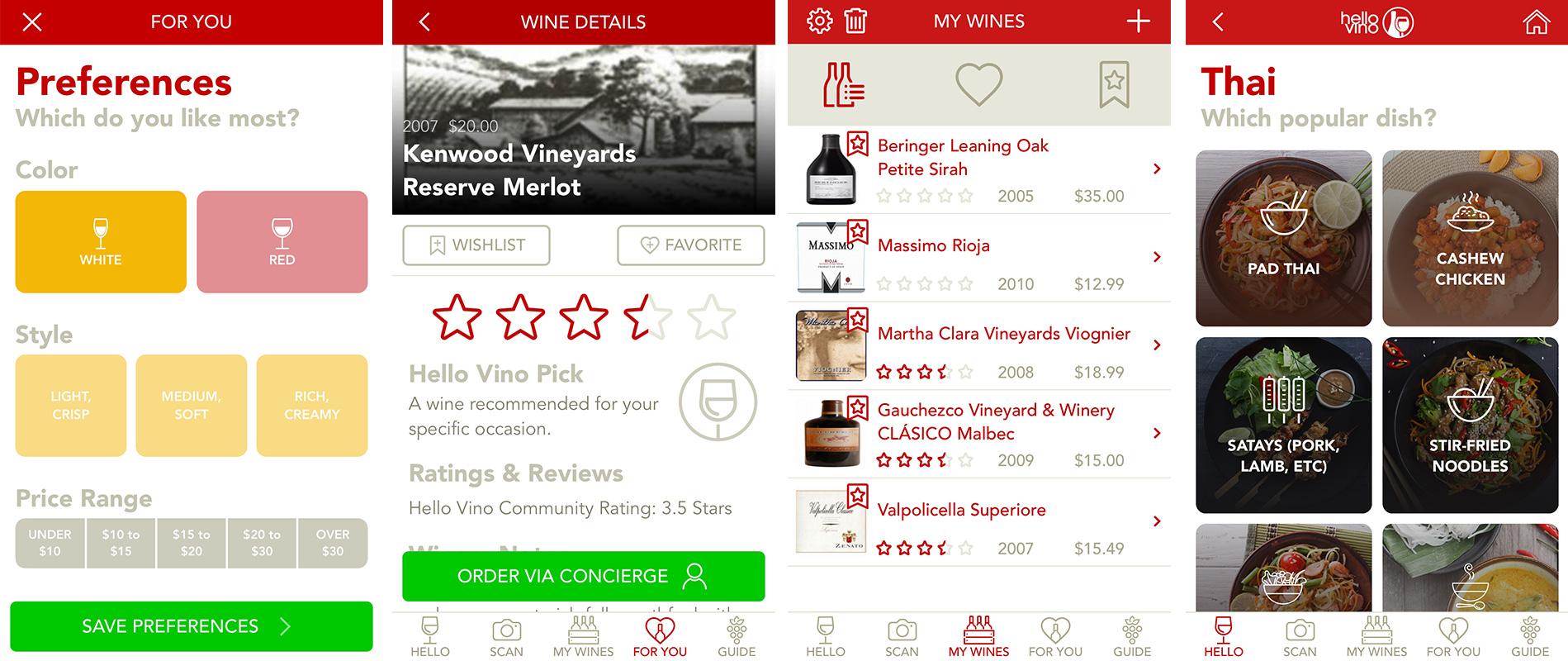 Hello Vino Wine Phone App