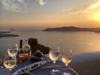 Santorini Wine in Greece