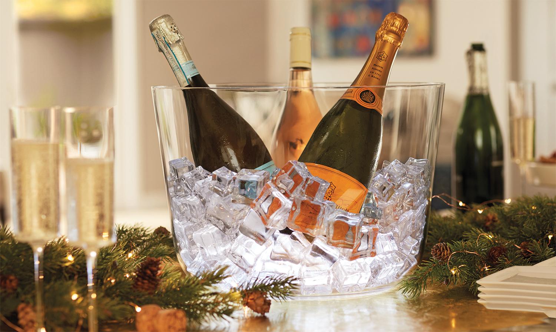 LED Ice Bucket for Wine Bottles