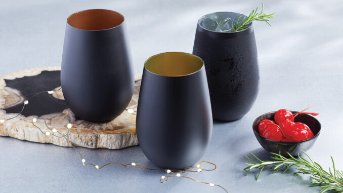 Noir Stemless Wine Glasses
