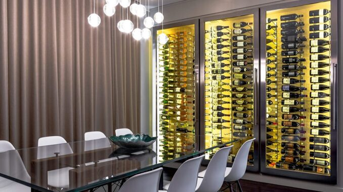 Custom Wine Cellar - Glass Jewel Box