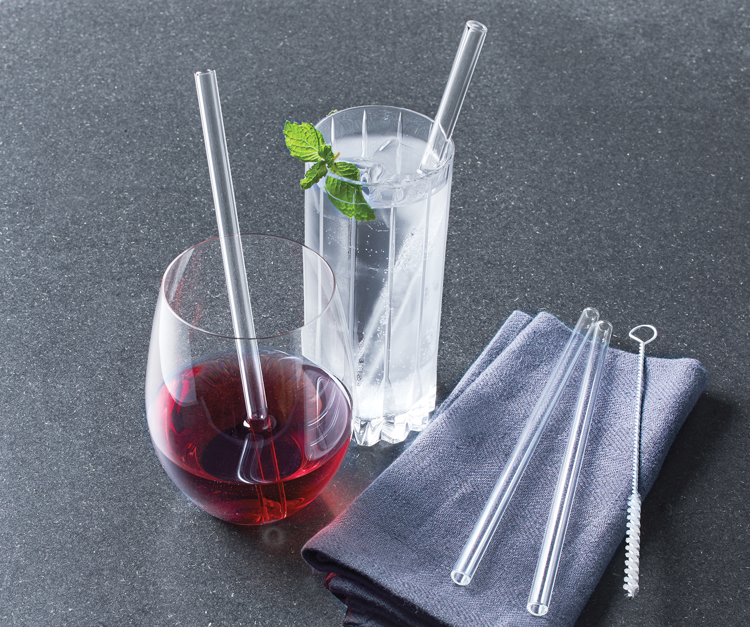 Reusable Glass Straws for Cocktails