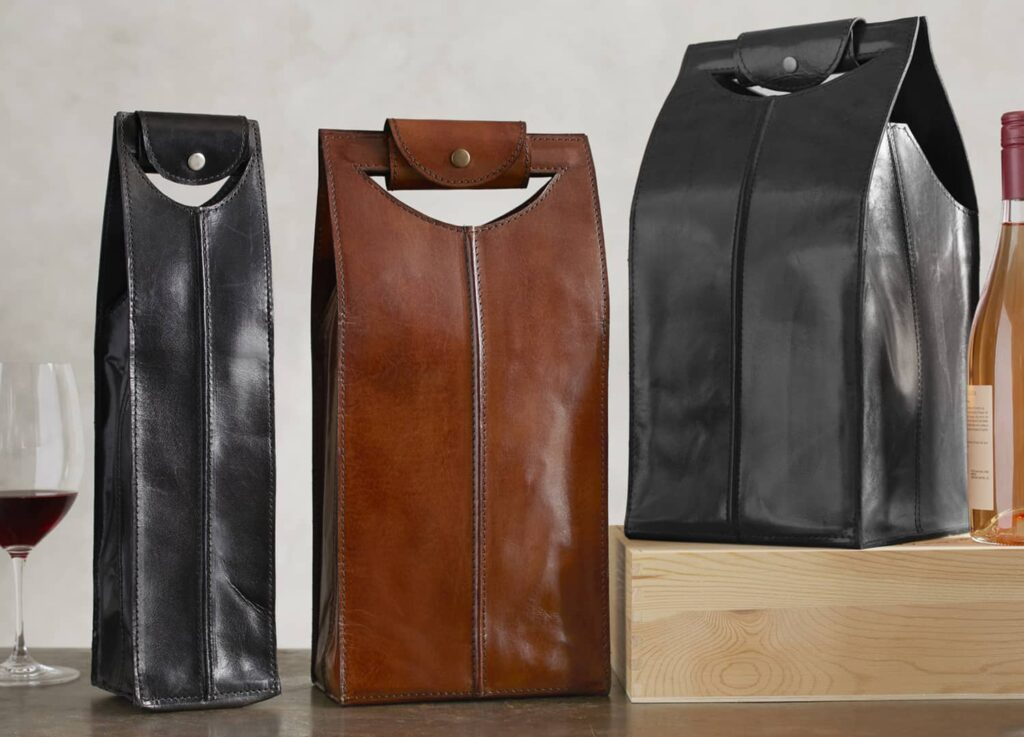 Leather Wine Bags