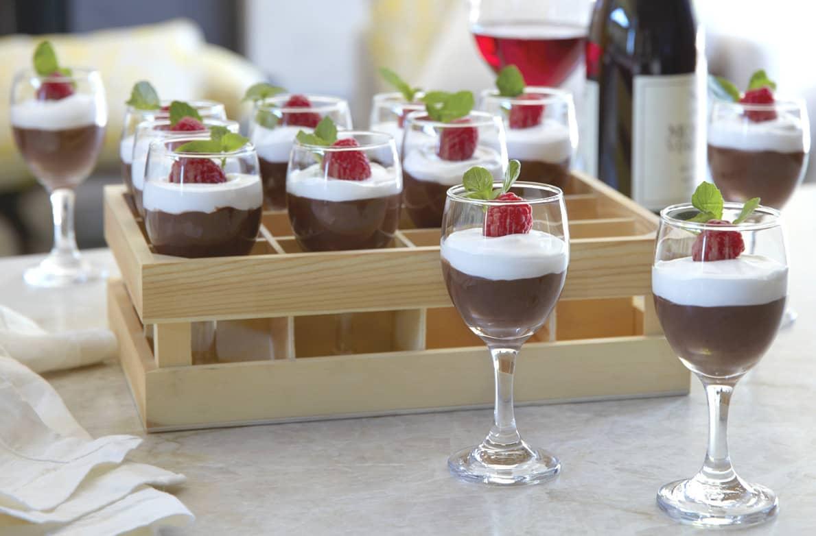 Mini Wine Glasses with Crate