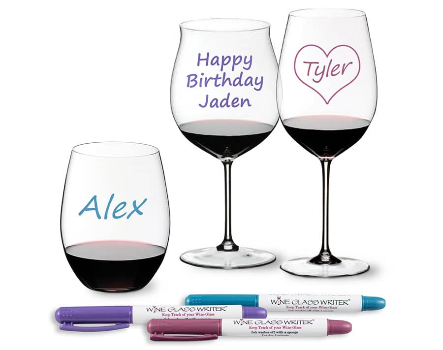 Spring Wine Glass Writer Pens