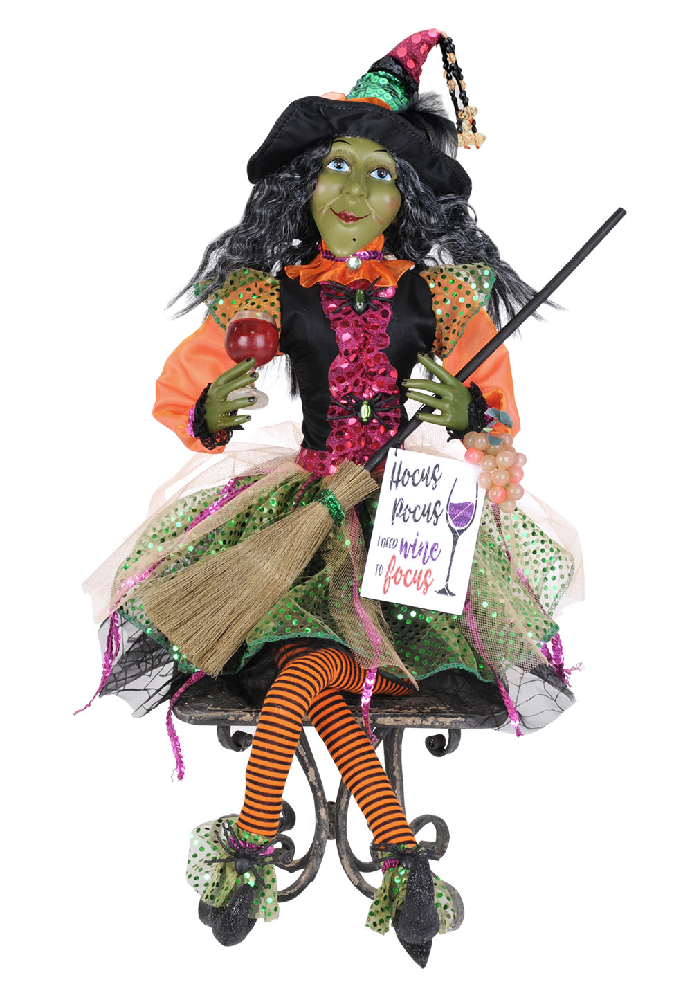 Glitzy Wine Witch