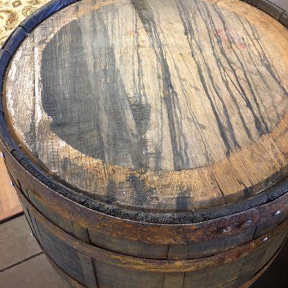 unfinished barrel top detail