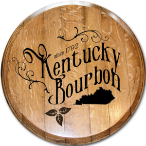 kentucky bourbon script barrel head