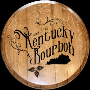 kentucky bourbon script barrel head