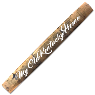 my old kentucky home barrel stave white