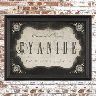 Framed Cyanide Print