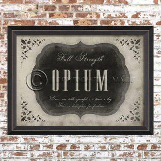 Framed Opium Print
