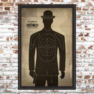 Framed Human Target (Hers) Print