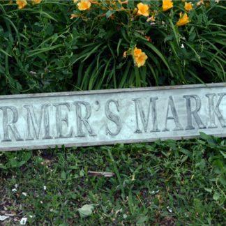 Vintage Stamped Farmer's Market Sign