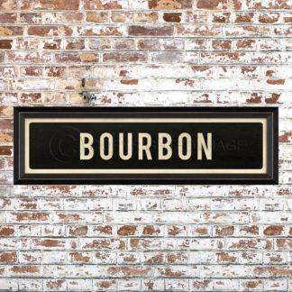 Framed Bourbon Placquard