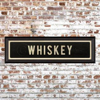 Framed Whiskey Placquard