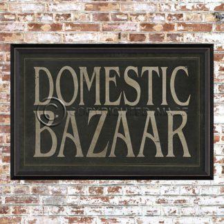 Framed Domestic Bazaar Print