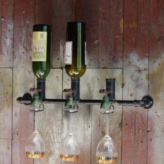 Wine Bottle Spigot Display