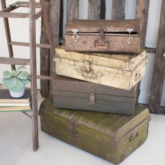 antique metal suitcases
