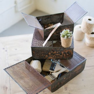 rustic copper boxes