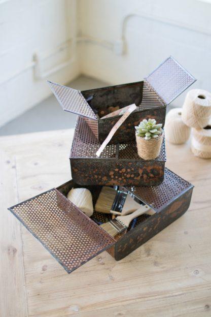 rustic copper boxes