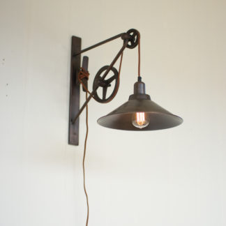 kalalou double pulley wall sconce light