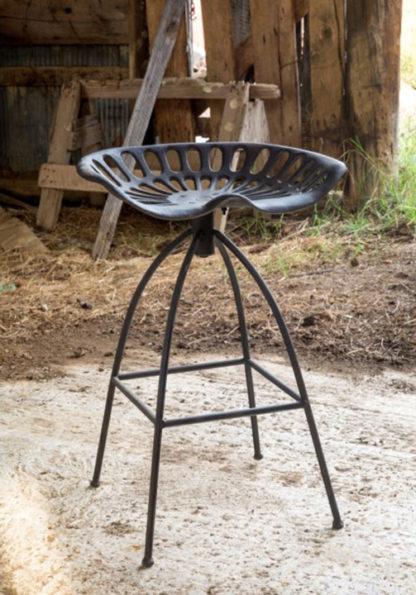 vintage tractor seat barstool