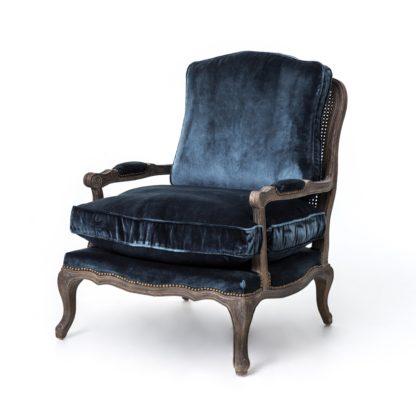 four hands boutique accent chair blue