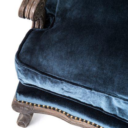four hands boutique accent chair blue 2