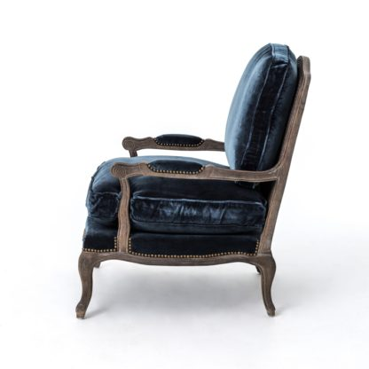 four hands boutique accent chair blue 4