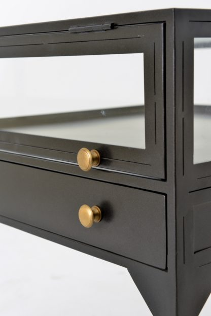 four hands shadow box end table 3