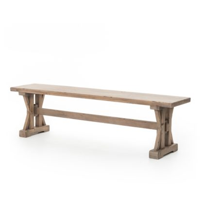 four hands tuscan dining bench