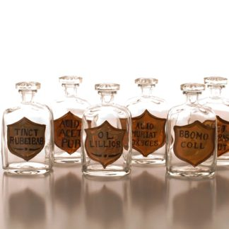 hand-painted apothecary bottles