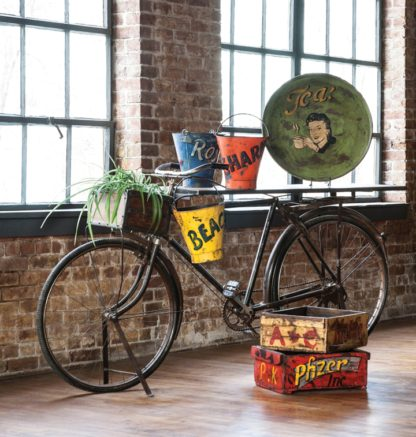 vintage bike bar table