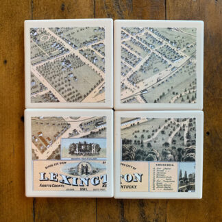 Stone Drink Coasters (Set of 4)- Lex Map