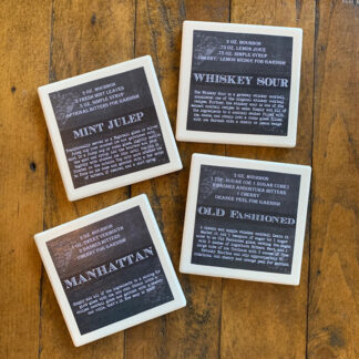 Stone Drink Coasters (Set of 4)- Recipes