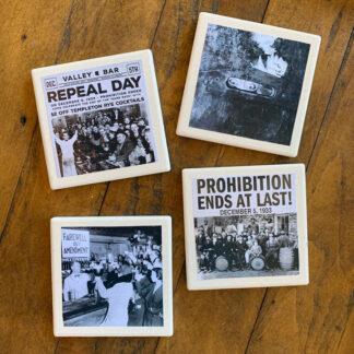 Stone Drink Coasters (Set of 4)- Prohibition