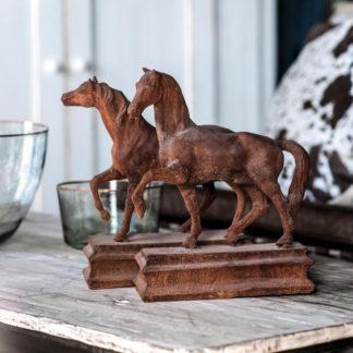vintage rusted metal horses
