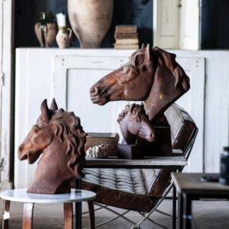 vintage rusted horse head