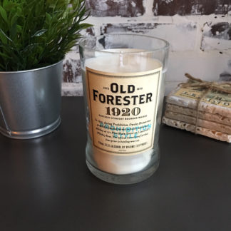 old forester whiskey candle