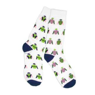 Jockey Silks Socks White