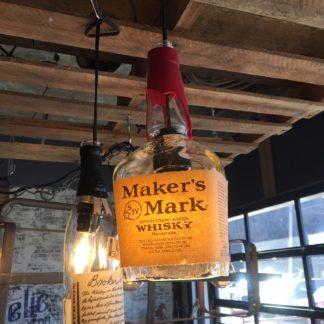 Recycled Maker's Mark Bottle Pendant Light