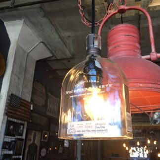 Recycled Woodford Reserve Bottle Pendant Light